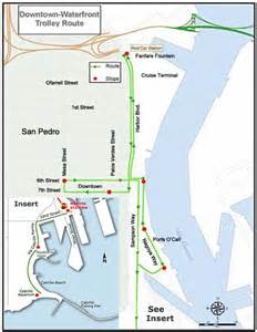 map of san pedro california san pedro ca downtown trolley