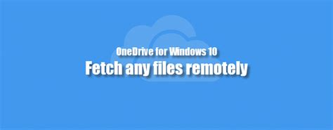 Tips Trik Series Windows 7 how to fetch any files remotely using onedrive in