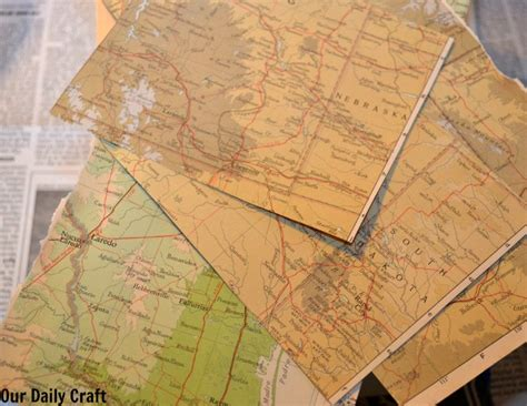 Decoupage With Maps - how to decoupage a box with maps our daily craft
