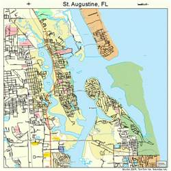 map of florida showing st augustine st augustine florida map 1262500