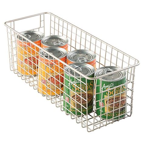 Wire Pantry Baskets by Mdesign Wire Storage Basket For Kitchen Pantry Cabinets