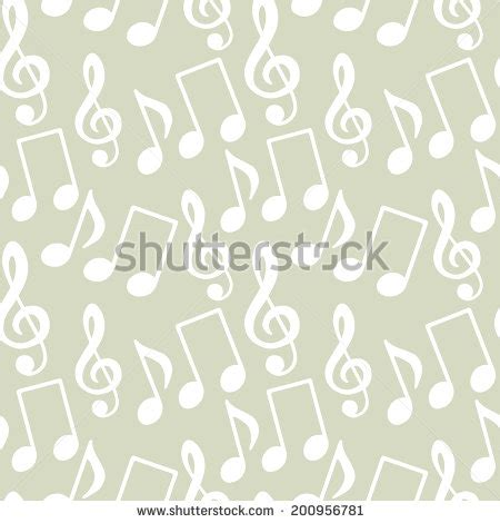 design pattern notes musical symbols music notes treble clef stock vector
