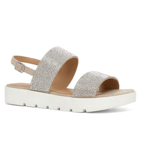 aldo sandals aldo eowenna flatform sandals in metallic lyst
