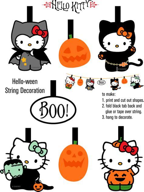 printable halloween decorations hello kitty loft cute hello kitty freebies for halloween