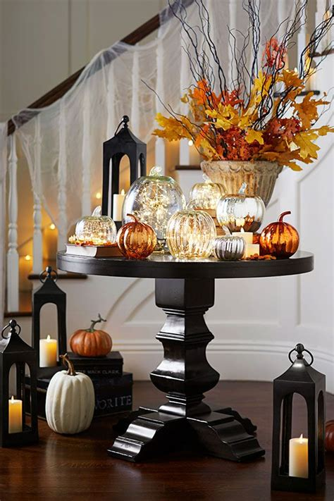 Glass Pumpkin Decorations by 1000 Ideas About Happy Thanksgiving On