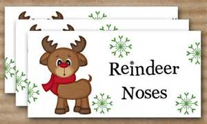 christmas treat bag topper reindeer noses by paperhousedesigns