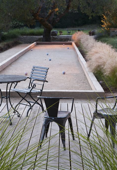 backyard bocce court bocce court contemporary landscape other by