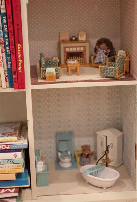 calico critters doll house bookshelf dollhouse for calico critters sylvanian family pinterest dollhouses and bookshelves