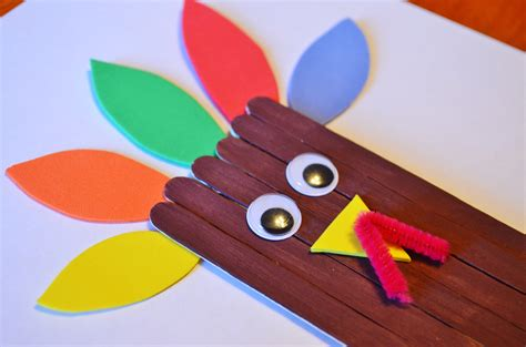 turkey craft thanksgiving turkey craft sticks craft for