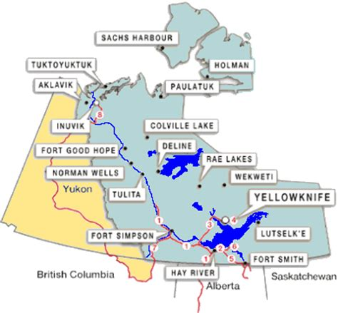 map of northwest territories canada maps of canada provinces political and territories