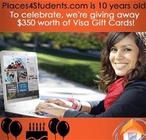 250 Visa Gift Card - contest win a 250 visa gift card from places4students 2014 01 31