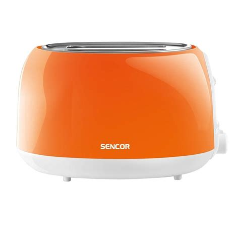 Home Depot Toaster Ovens Sencor 2 Slice Solid Orange Toaster Sts2703or Naa1 The