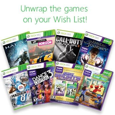 xbox xbox wish list has great gift ideas from the