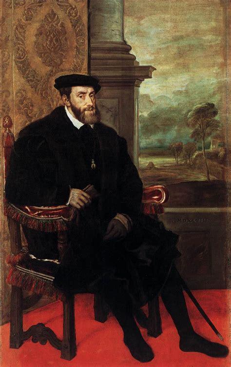 carlos v un tiziano vecellio retrato de carlos v sentado 1548 alte pinakothek munich arte y dem 225 s