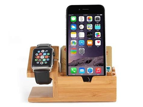 get the deal 5 off bamboo multi device cords organizer stand the bamboo charging station boasts integrated apple watch