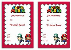 mario birthday invitations birthday printable
