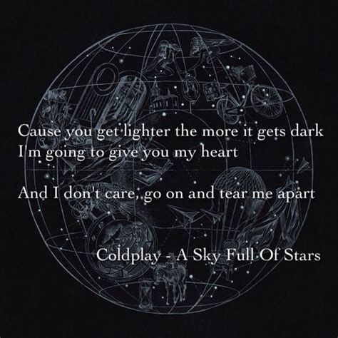 coldplay sky full of stars coldplay a sky full of stars quotes pinterest sky