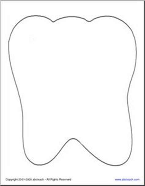 Tooth Writing Template by Printable Tooth Outline Healthy Teeth