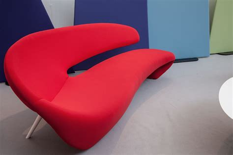 red curved sofa modern home decor brings fresh look to any room