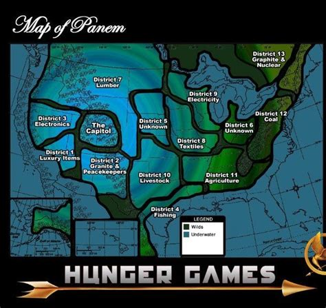 hunger games district themes 47 best maps of panem the hunger games images on pinterest
