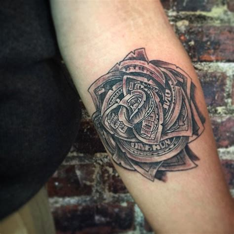 dollar rose tattoo money tattoos designs ideas and meaning tattoos