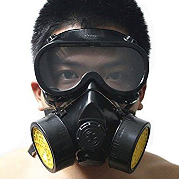 Masker Chemical vktech industrial gas chemical anti dust respirator mask goggles set style a papr safety