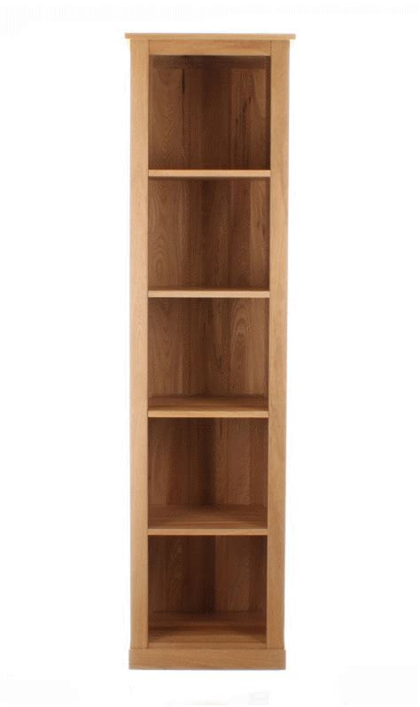 narrow oak bookcase mobel oak