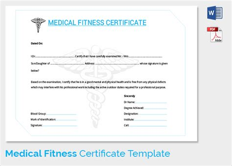Sample Medical Certificate   33  Download Documents in PDF