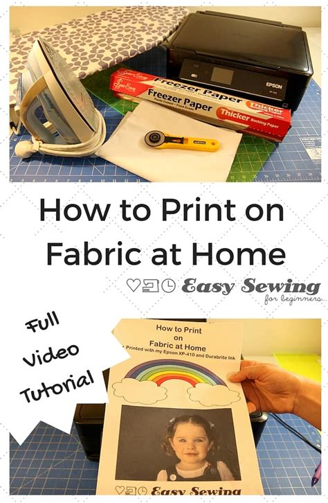 how to print on fabric with an inkjet printer at home