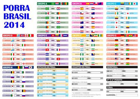 Calendario Eliminatorias Rusia 2018 Chile Pdf Porra Mundial Brasil 2014 Descarga El Cuadro Con Todos