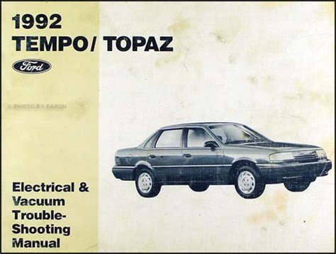auto body repair training 1985 ford tempo security system 1992 ford tempo mercury topaz electrical and vacuum troubleshooting manual oem ebay