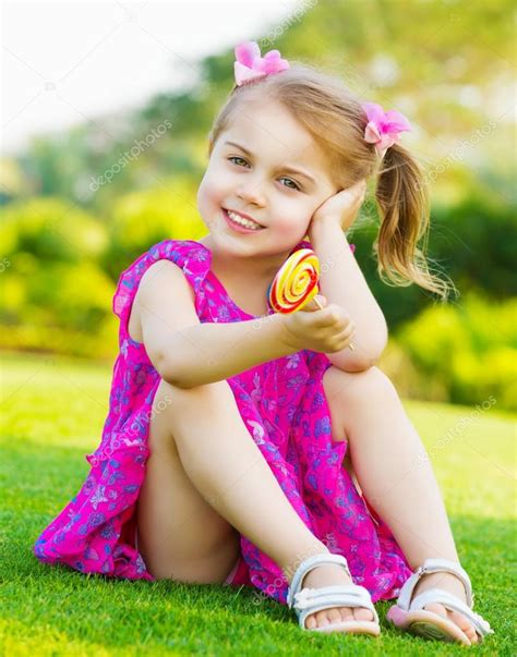 Little Girl With Lollipop Stock Photo Anna Om