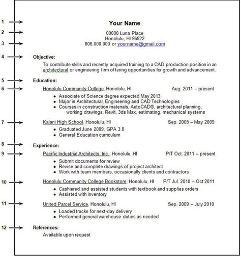 resume format for college students with no work experience resume for no experience how to write a resume with no experience high school