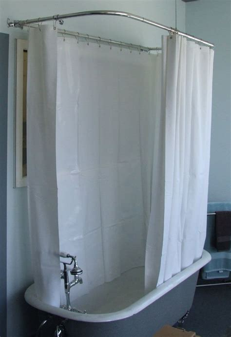 bathtub shower curtain rod fresh clawfoot tub shower curtain rod 18467