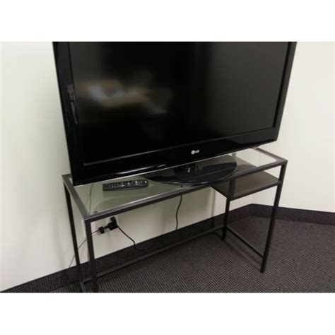ikea tv table ikea vittsjo metal and glass laptop table tv stand w shelf allsold ca buy sell used office