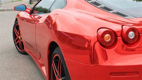 chrome ferrari f430 ferrari f430 red chrome drive2