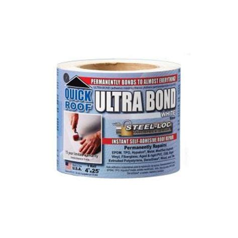 roof 4 in x 25 ft white ultra bond ubw425 the
