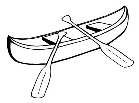 canoes drawing small boat canoe 1 transportation printable