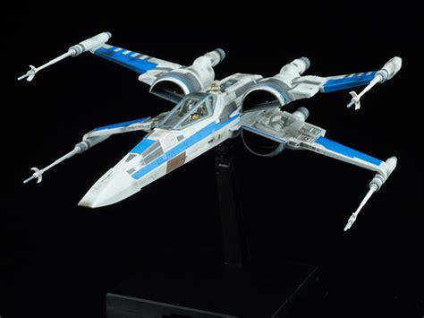 wars 1 72 blue squadron resistance x wing fighter the last jedi model kit