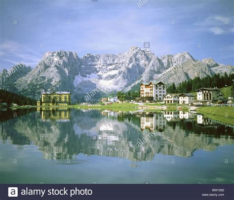 Hotel Italy Europe dolomites hotels italy europe misurina lake sea reflection