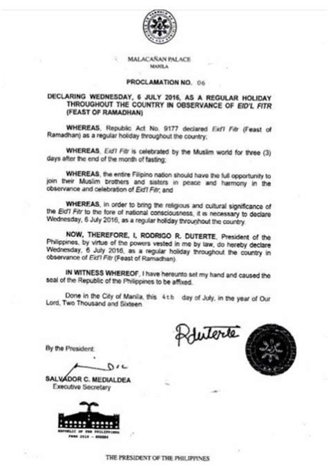 new year proclamation holidays in the philippines 2016 philippine holidays and