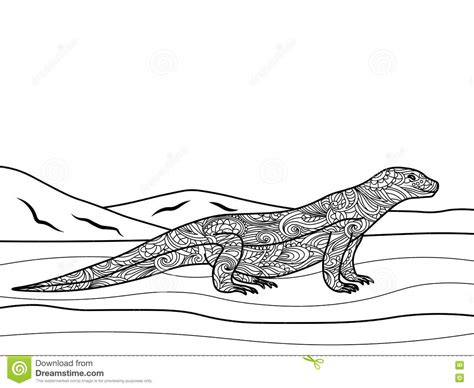 monitor lizard coloring pages monitor lizard coloring coloring pages