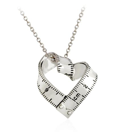 printable jewelry ruler இmeasure necklace twisted heart heart shaped ruler
