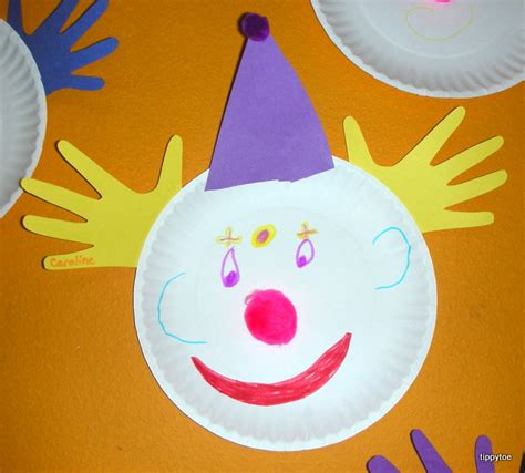 clown paper plate craft tippytoe crafts clowns