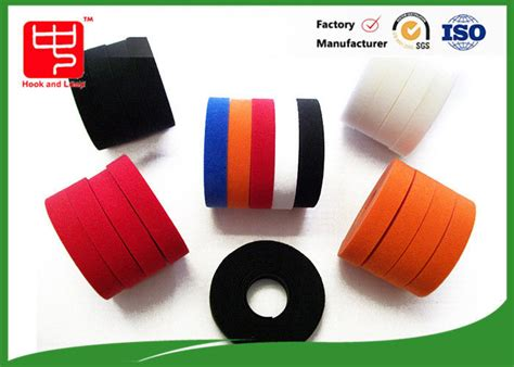 colored velcro colored hook and loop polyester material