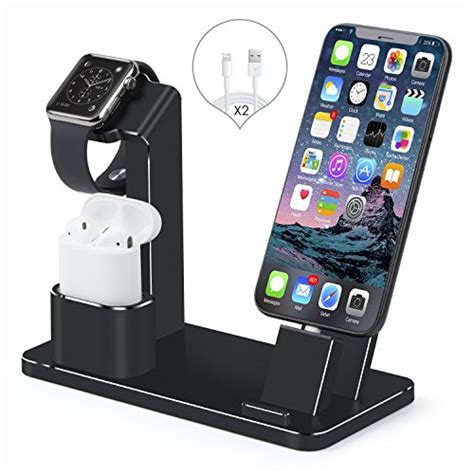 Quality Sale New Apple Airpods With Charging Bnib Aif612 apple stand airpods and iphone dock senzle 4 in 1 aluminum desk charger stand dock station