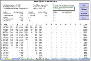 Debt Spreadsheet Template Debt Snowball Worksheet Printable Search Results