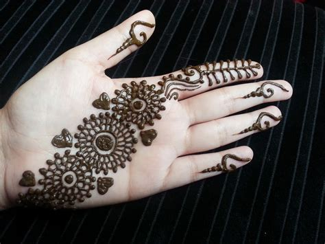 arabic henna strip simple pretty quick henna design