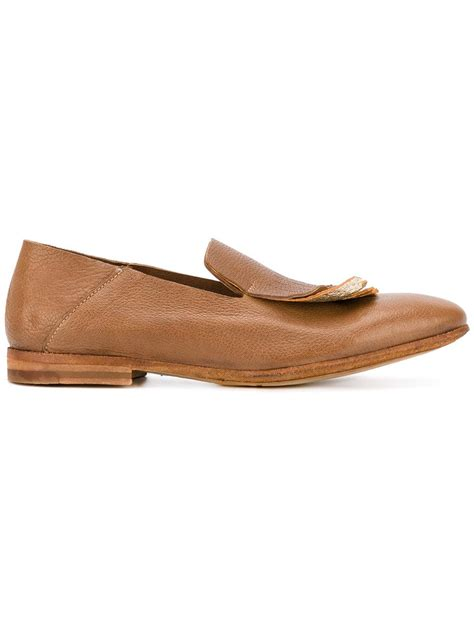 fringed loafers officine creative fringed loafers in brown lyst