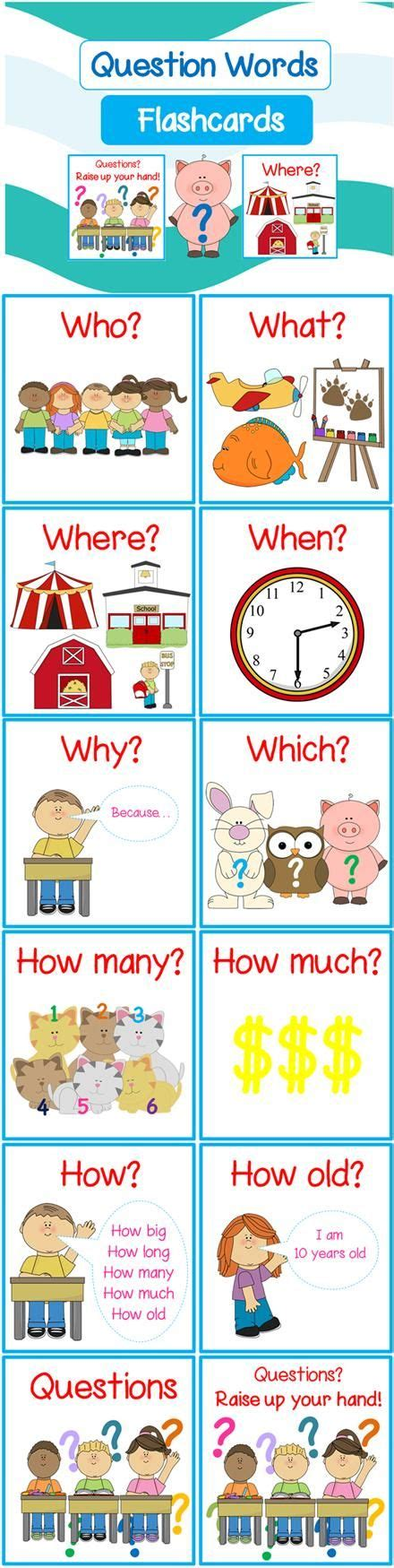 wh questions printable flash cards free question words flashcards includes when what
